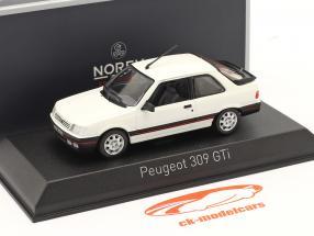 Peugeot 309 GTI Año de construcción 1987 meije blanco 1:43 Norev