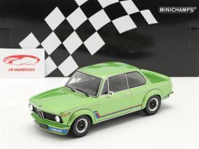 BMW 2002 Turbo Año de construcción 1972 verde metálico 1:18 Minichamps