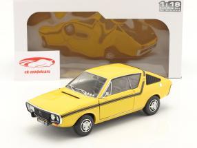 Renault 17 (R17) MK1 bouwjaar 1976 geel 1:18 Solido