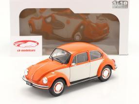 Volkswagen VW Bille 1303 Byggeår 1974 orange / hvid 1:18 Solido
