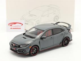 Honda Civic Type-R Byggeår 2020 grå 1:18 LCD Models