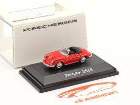 Porsche 356B Conversível vermelho 1:87 Welly