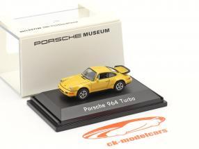 Porsche 911 (964) Turbo amarillo 1:87 Welly
