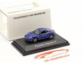 Porsche Cayman S bleu métallique 1:87 Welly