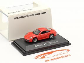 Porsche 911 (991) Carrera S rouge 1:87 Welly