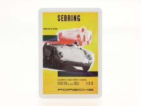 Porsche metal postcard: Porsche 550 Spyder Sebring