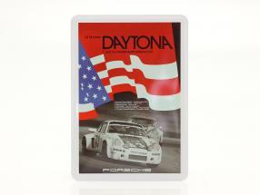 Porsche Metalen ansichtkaart: vlag 24h Daytona 1977