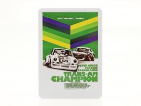 Porsche Carte postale en métal : Trans-Am Champion 1973 Peter Gregg