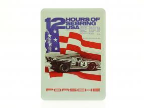 Porsche Metal postkort: 12h Sebring 1971