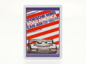 Porsche Metal postcard: Can-Am Road America 1973