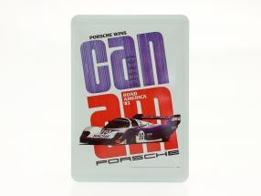 Porsche Metalen ansichtkaart: Can-Am Road America 1983