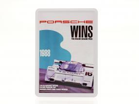 Porsche Metal postkort: 3h Miami 1988