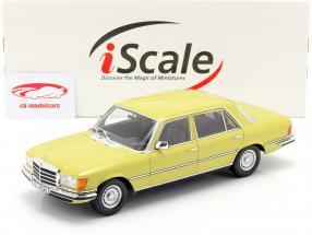 Mercedes-Benz Clase S 450 SEL 6.9 (W116) 1975-1980 mimosa amarilla 1:18 iScale