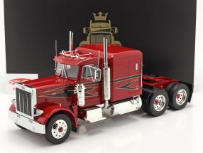 Peterbilt 359 Bull Nose Truck 1967 red / black 1:18 Road Kings