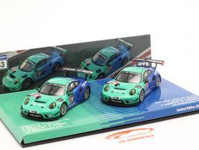 2-Car Set Porsche 911 GT3 R #44 #33 24h Nürburgring 2020 Falken Motorsports 1:43 Minichamps