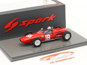 Nino Vaccarella Lotus 18-21 #18 6th GP de Pau 1962 1:43 Spark