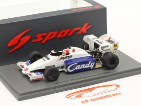 Johnny Cecotto Toleman TG184 #20 Monaco GP Formel 1 1984 1:43 Spark