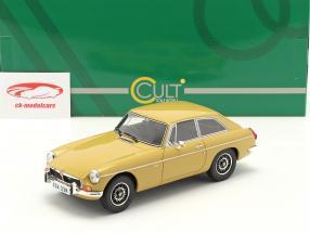MGB GT V8 Byggeår 1974 harvest guld 1:18 Cult Scale