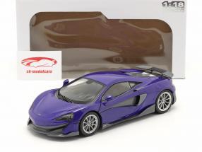 McLaren 600LT Coupe Année de construction 2018 violet métallique 1:18 Solido