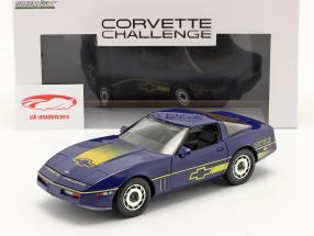 Chevrolet Corvette C4 year 1988 blue / yellow 1:18 Greenlight