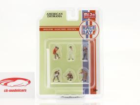 Race Day Conjunto de figuras 1:64 American Diorama