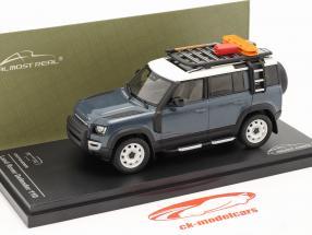 Land Rover Defender 110 Byggeår 2020 tasman blå 1:43 Almost Real