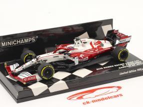 Kimi Räikkönen Alfa Romeo Racing C41 #7 Bahréin GP fórmula 1 2021 1:43 Minichamps
