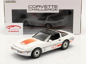 Chevrolet Corvette C4 Byggeår 1988 hvid / orange 1:18 Greenlight