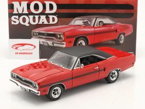 Plymouth GTX 1970 TV series The Mod Squad (1968-73) Red / black 1:18 GMP