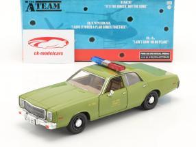Plymouth Fury 1977 TV-Serie Das A-Team (1983-87) army grün 1:24 Greenlight