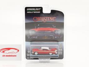 Plymouth Fury 1958 Movie Christine (1983) red / white / silver 1:64 Greenlight