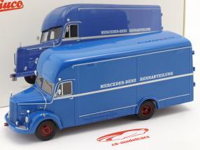 Mercedes-Benz O35000 Departamento de carreras azul 1:43 Schuco