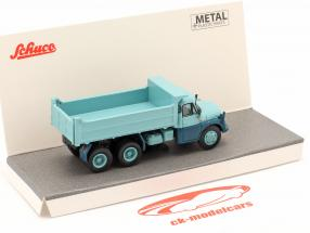 Tatra T138 dump truck light blue 1:87 Schuco