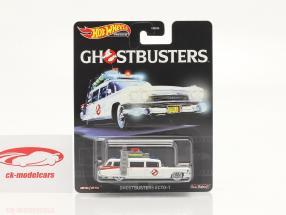 Cadillac Ambulance Ecto-1 1959 Película Ghostbusters (1984) blanco 1:64 HotWheels