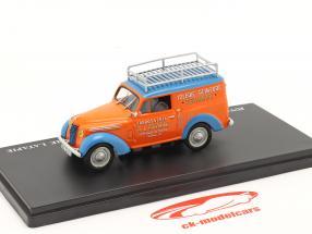 Renault Juvaquatre Werbewagen Latapie orange / blau 1:43 Hachette