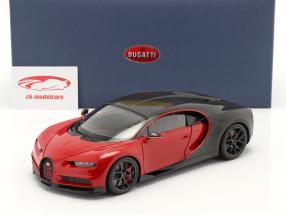 Bugatti Chiron Sport Année de construction 2019 italien rouge / carbone 1:18 AUTOart