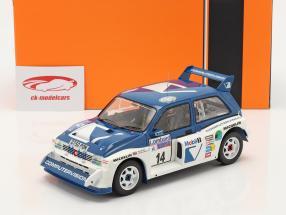 MG Metro 6R4 #14 Noveno Lombard RAC Rallye 1986 Llewellin, Short 1:18 Ixo