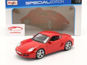 Porsche Cayman S Rød 1:18 Maisto