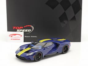 Ford GT Sunoco bleu / jaune 1:18 TrueScale