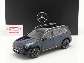 Mercedes-Benz EQB Baujahr 2021 denimblau 1:18 NZG
