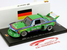 BMW CSL N° 7 Vainqueur 1000 km Nürburgring 1976 Quester, Cancer 01h43 Spark