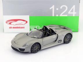 Porsche 918 Spyder Ano 2013 cinza 1:24 Welly