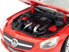 Mercedes-Benz SL 500 Converteerbaar Jaar 2012 rood 1:24 Welly