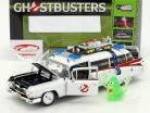 Cadillac ambulance Ecto-1 année de construction 1959 film Ghostbusters (1984) blanc avec figure Slimer 1:18 Ertl