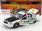 Ford Crown Victoria Police Interceptor 2003 Série TV CSI: Miami (2002-2012) blanc 1:18 Greenlight