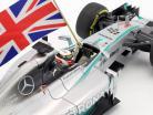 L. Hamilton Mercedes F1 W05 #44 campeón del mundo Abu Dhabi F1 2014 1:18 Minichamps