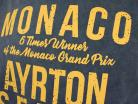Ayrton Senna Hoodie 1 overwinning Monaco GP formule 1 1987 blauw / geel