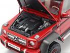 Mercedes-Benz G63 AMG 6x6 jaar 2013 rood 1:18 AUTOart