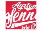 Ayrton Senna Camiseta fuente en Brasil rojo