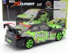 X-Tuner R / C Drift Car with Pylons green / black / gray 1:14 NewRay